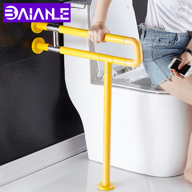 Toilet Safety Rails Bathroom Handrail Stainless Steel Shower Safety Bar Wall Mount Bathtub Grab Bar for Elderly Grab Rail White grab bars gold brass wall mounted bathroom armrest handle bathtub grab bar toilet elderly handrail home safety grab bar og 51 35