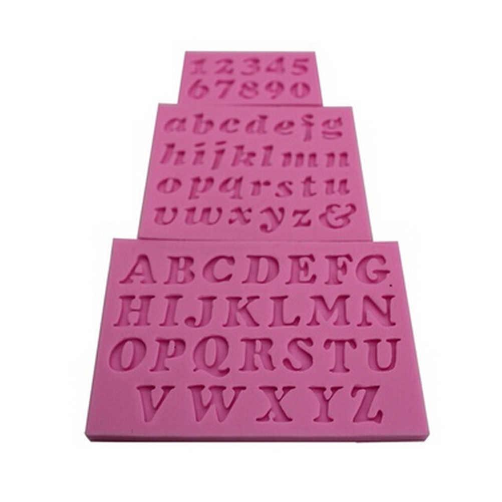 3 قطعة/المجموعة رقم رسالة شكل قالب من السيليكون كعكة الديكور ثلاثية الأبعاد الغذاء الصف الصابون الشوكولاته