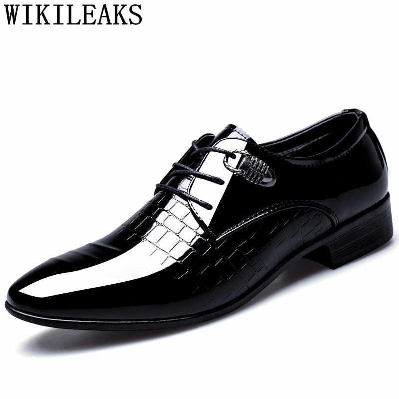 Oxfords italianos zapatos formales hombres oxford zapatos para hombre Zapatos de vestir 2019 boda hombre Zapatos derbi calzado hombre erkek ayakkabi