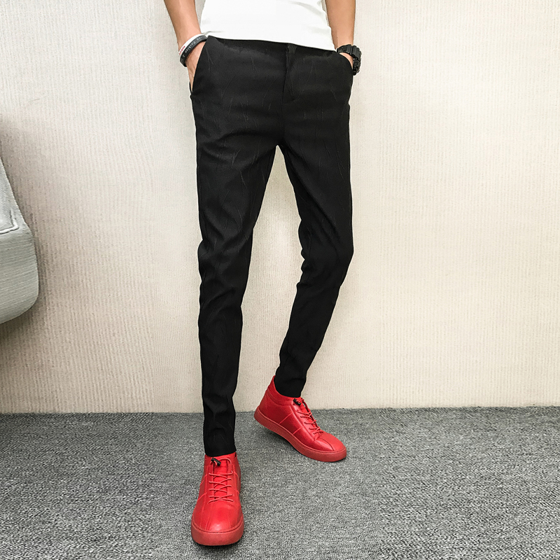 Autumn Hot Sale Solid Men Pant Brand New All Match Simple Trousers Men Slim Fit Hip Hop Streetwear Casual Pants Men Clothes 2018 For Improving Blood Circulation