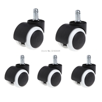 For 5Pcs Bag 2 Office Home Chair Swivel Casters Mute Wheel Universal Replacement Promotion