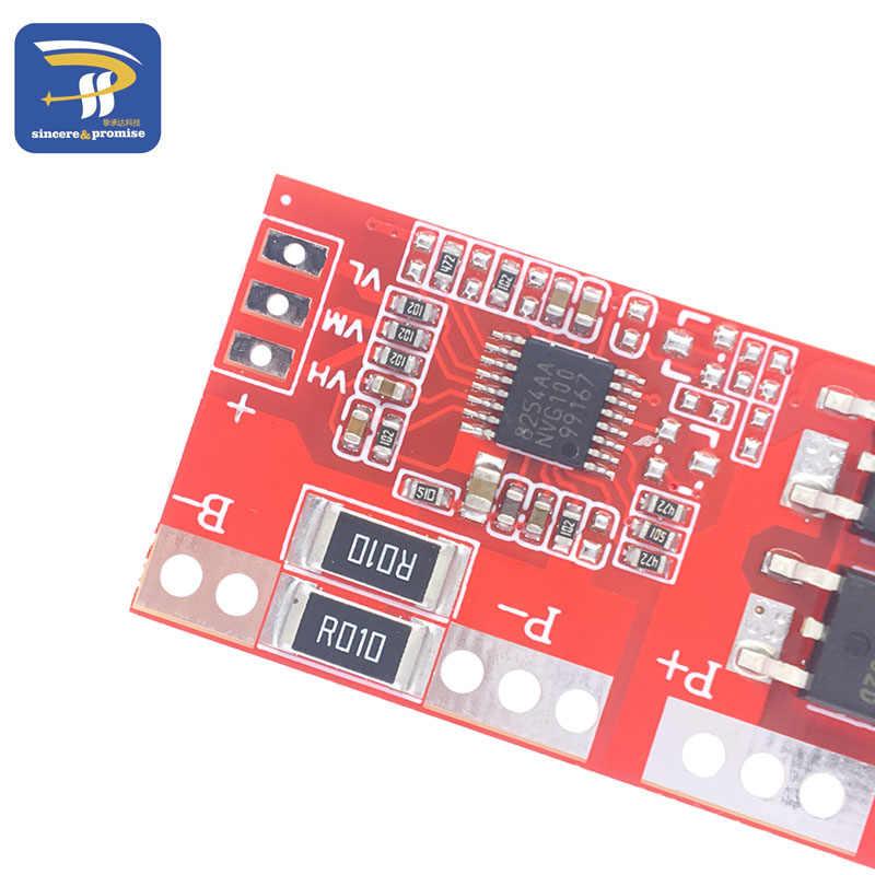 4S 30A Hoge Stroom Li-Ion Lithium Batterij 18650 Charger Bescherming Board Module 14.4V 14.8V 16.8V Overbelasting over Kortsluiting