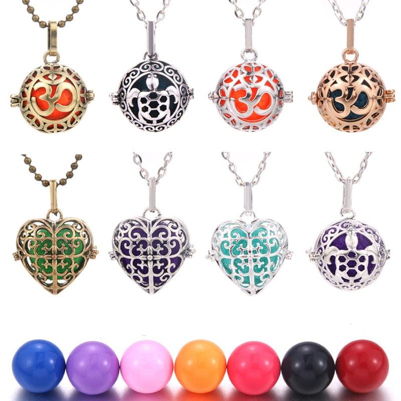 Wholesale Heart Pendulum Mexico Harmony Ball Chime Locket Necklace Caller Mother Child Pendant