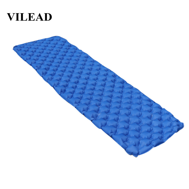 Image 1 - VILEAD Ultralight Portable Air Mattress Inflatable Cushion Sleeping Pad  for Camping Hiking Backpacking Self Travel 190*57 cm-in Air Mattresses from Sports & Entertainment