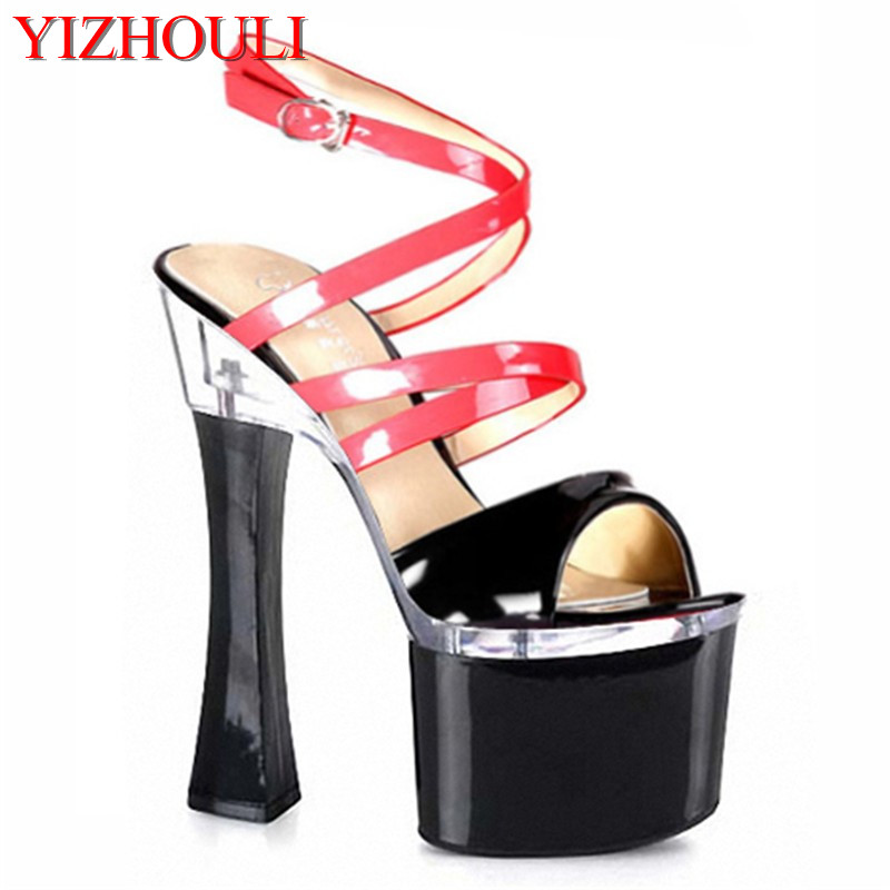 45cc91d7a69f HOT SALE 18 cm sexy high heels sandals women 7 inch spool heels platform  High-heeled shoes pole dancing Dance Shoes