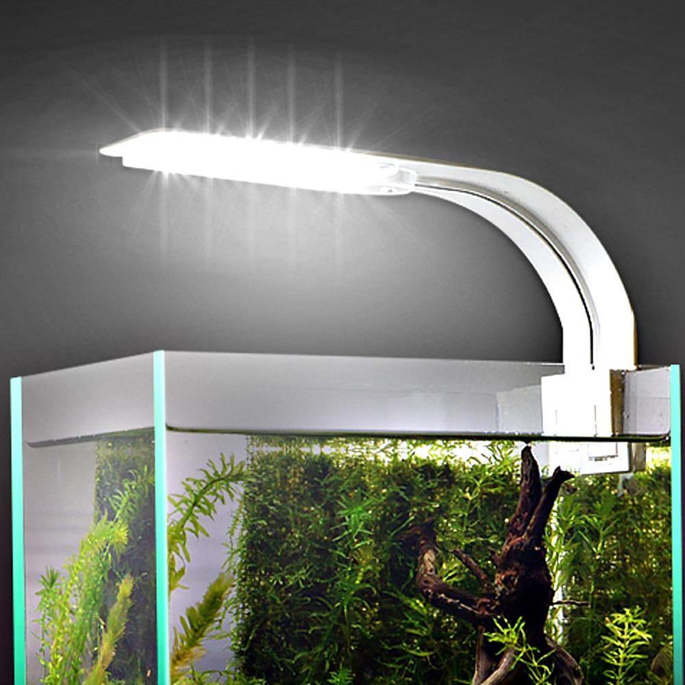 Luz de acuario para acuario, acuario plantado, 10 W/5 W/3 W, luz LED para acuario, iluminación LED, lámpara de Luces antiniebla con Clip 55cm poste de barbería de iluminación rojo blanco azul de la raya de luz rayas señal pelo pared led colgante Downlights