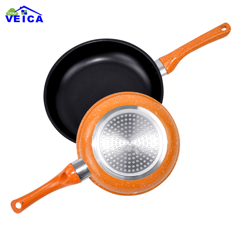 2pcs/set 20cm/24cm Aluminum Pan Nonstick Frying Pan Ceramic Fry Egg Pan