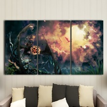 Canvas decorative painting wallpaper module HD printing 3 animated living room mural posters digital