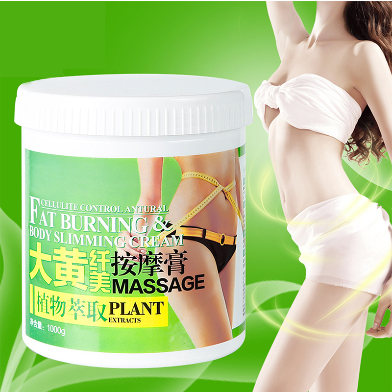 1000g Plant Extract Body Slimming Cream Massage Fat Burning Cream Potent Fat Lose Weight Firming Anti-Cellulite Body Scrub