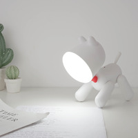 Puppy night light with reading lamp cute children's night light two speed control night light usb table lamp