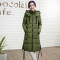 2016 Winter New Arrival Women Casual Cotton Padded Coat Slim Medium Long Thick Jacket Plus Size M-3XL
