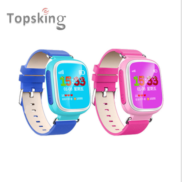 Original Kid GPS Smart Watch Wristwatch SOS Call Location Finder Locator Device Tracker for Kid Safe Anti Lost Monitor Baby Q80