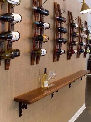 Decorative Wood Wine Rack Fashion Creative Wall Hanging Wall Mounted
