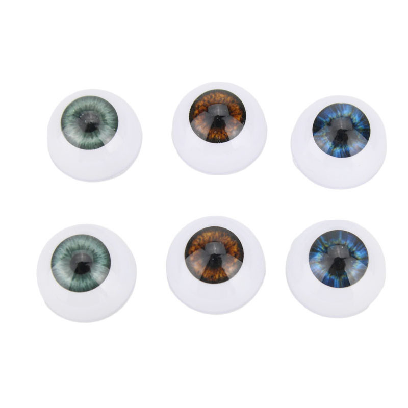 Kaydora 3 Pairs Doll Eyes 20MM Reborn Doll Eyeball Half Round Eyes Reborn Doll Kits Replacement Eyeball Lol Reborn Baby Dolls