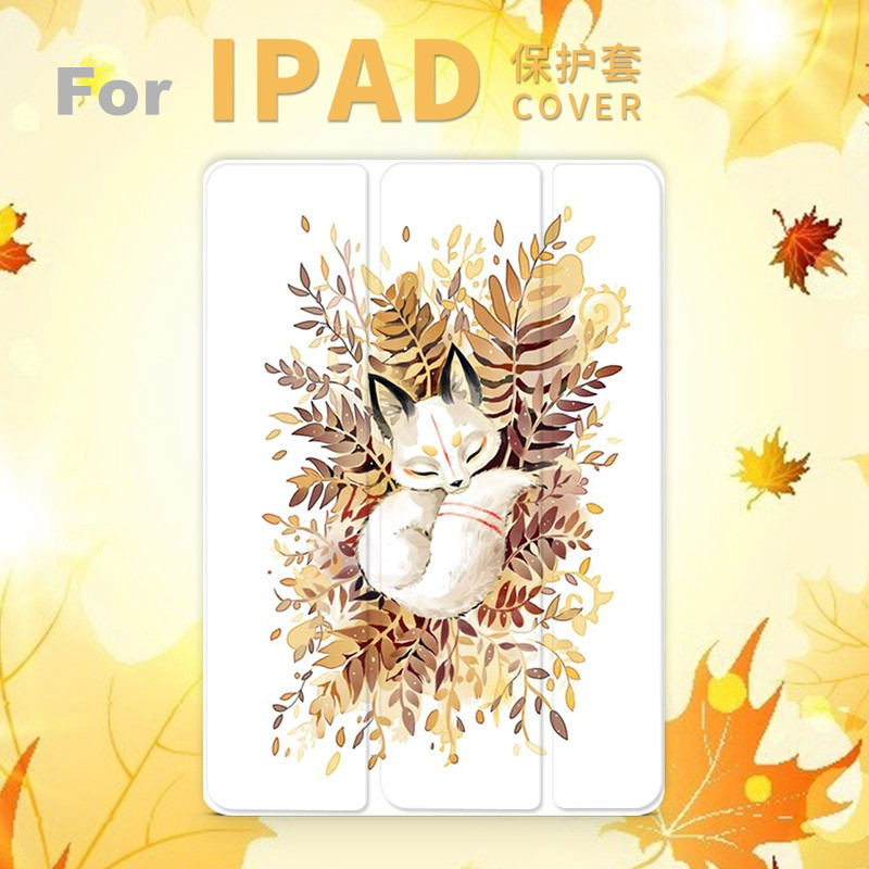 Sleeping Fox Magnet PU Leather Case Flip Cover For iPad Pro 9.7 10.5 Air Air2 Mini 1 2 3 4 Tablet Case For New ipad 9.7 2017 personal magnet pu leather case flip cover for ipad pro 9 7 10 5 air air2 mini 1 2 3 4 tablet case for new ipad 9 7 2017 a1822