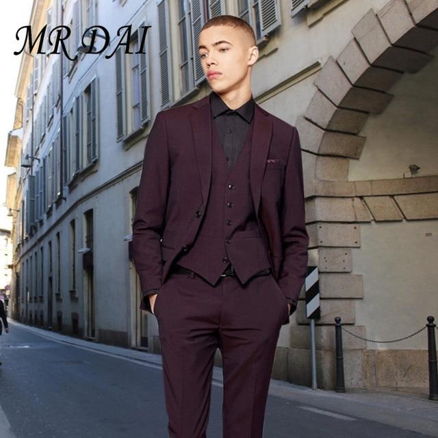 MD 050 Custom Made Hot Sale Mens wedding Suits Formal Wear 3 Piece ...