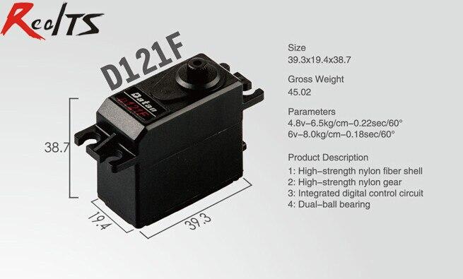 RealTS d'une Seule pièce Batan D121F 8 kg double roulement à billes numérique servo pour rc voiture rc bateau rc avion
