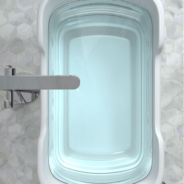 Baby Shower Portable Silicone Pet Bath Tubs Bath Accessories Baby Folding Non-Slip Bathtub Safety Security Cat Dog Bath Tubs 2