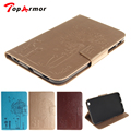 TopArmor Embossing PU Leather Case Cover For Samsung Galaxy Tab 3 8.0 T310 T311 T315 Flip Book Style Wallet Magnetic Cards Slot
