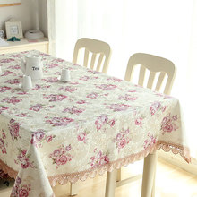 Polyester Jacquard Tablecloth Home Lace Table Coffee lace tablecloth Hotels manteles para mesa rectangulares en tela