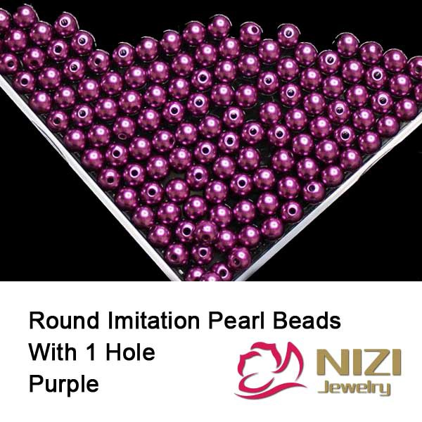 Purple 6mm 8mm 10mm Round Straight Hole Beads 3D Jewelry Making Resin Imitation Pearls Nail Art Decorations 100g/bag нож zero tolerance zt0095 b