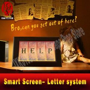 Image 5 - Takagism real life escape zimmer prop alphabet brief system smart screen finden code entsperren adventurer spiel puzzle gerät jxkj1987