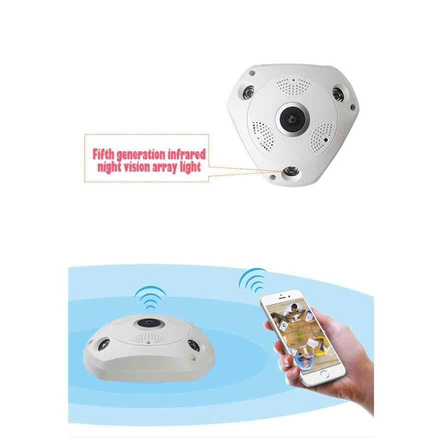 Новинка 360 градусов панорамная беспроводная домашняя ip-камера видеонаблюдения Аудио видео WiFi 18Mar01 Прямая поставка F