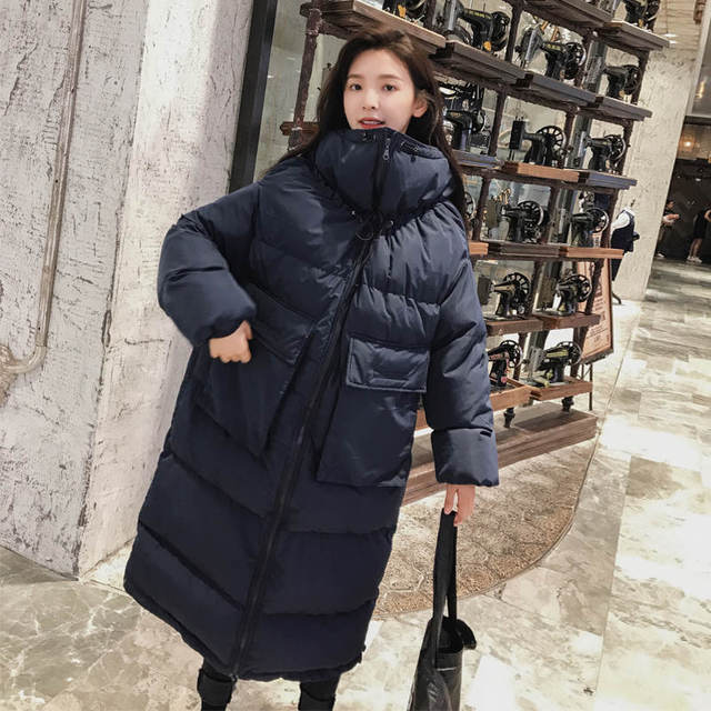 Down Cotton Women Winter Jacket BF Style Stand Collar Long Parka Women Winter Coat Plus Size Oversized Coats Female Jacket C5114 1