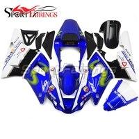 Впрыска ABS Обтекатели для Yamaha YZF1000 R1 год 00 01 2000 2001 пластмассы мотоцикл полный комплект обтекателя Кузов сине белые Новый