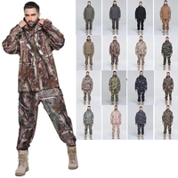 Ice Winter Suit Fly Fishing Clothes Camouflages Men Warm Hunting Clothing Sets Waterproof Jacket With Thread Hat Outdoor Camping