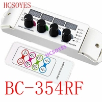 BC 354RF DC12V 24V Knob RGBW controller with RF wireless Remote RGB Controller multi function display controller 5A/CH*4 RGBW