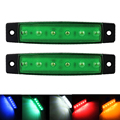 2 Pcs 6 LED indicador marcador lateral do caminhão reboque lâmpadas luzes de apuramento para caminhões 24 V Frente Traseiros Luzes externas ônibus