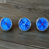 Car Styling Meter Originality Decoration Ornaments Best Gift Blue 4CM Cool Quartz Watch Hygrometer Thermometer