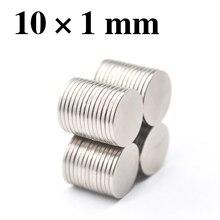 HYSAMTA 100 шт. 10×1 постоянный магнит неодимовый N35 10 мм x 1 мм NdFeB супер сильный мощные магнитные магниты маленький круглый диск 10*1