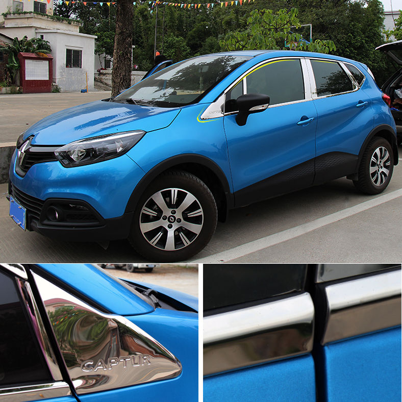 Stainless steel Car window decoration article Chorme Car Accessories For Renault Captur 2014 2015 коврик для ванной iddis curved lines 50x80 см 402a580i12 page 1