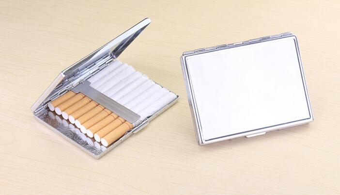 240Pcs Blank 9 Cigarettes Box Case Stainless Steel Tobacco Tube Storage Pocket Box Holder Handy Portable DIY- DHL Free Shipping
