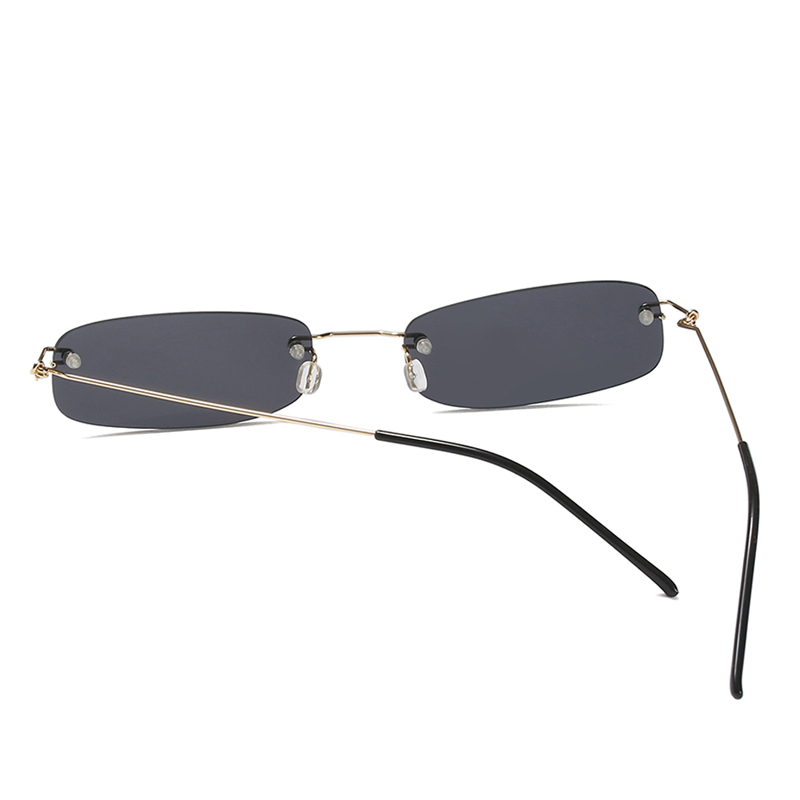 7ead76b0e7f Kachawoo wholesale 6pcs narrow sunglasses for men gold black small rectangle  rimless sun glasses women accessories 2018 hot sale-in Sunglasses from  Apparel ...