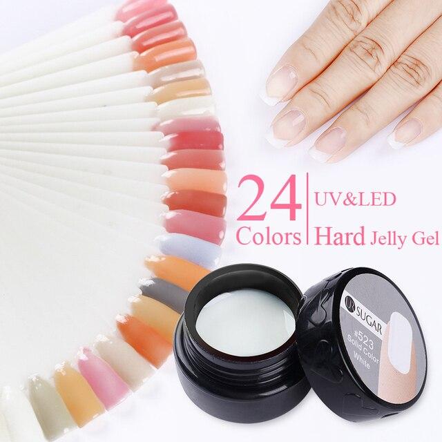 UR SUGAR 7ml Thick Builder Gel Pink Finger Nails Extension UV Gel ...