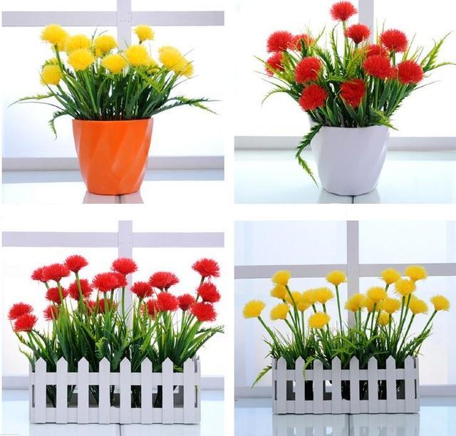 1pc 40cm Dandelion flower bouquets, 4 Colors, for Landscape Design ...