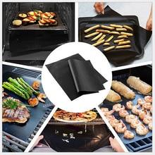 5 Piece Non Foxic BBQ Barbecue Grill Mats Mesh Non Stick Oven Liner Teflon Heat Resistant Baking Pad Reusable Barbecue Sheets 2pcs teflon non stick bbq grill mats black 15 7 x 13