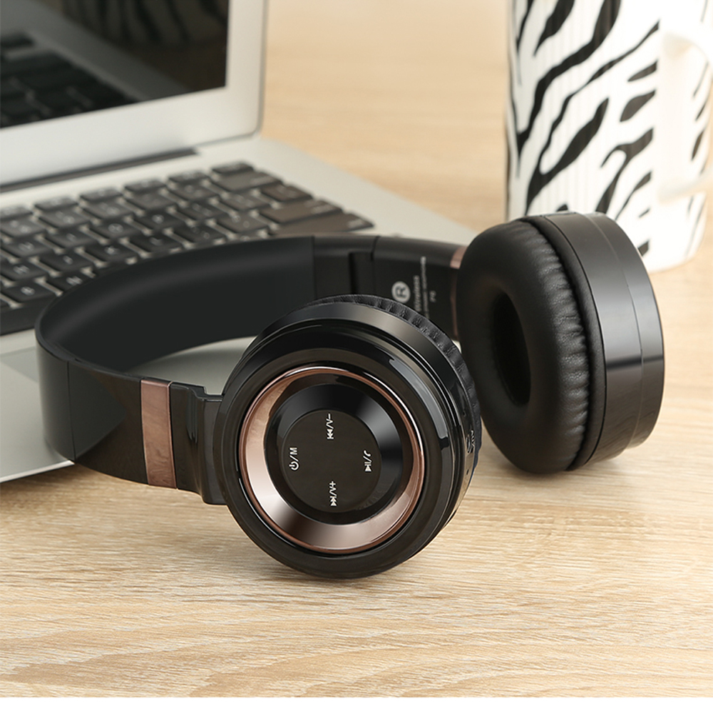 CHICLITS P6 Bluetooth Headphone Wireless Bass Noise Reduction Support TF Card FM Radio Sport Gaming Headsets For Xiaomi PC Gifts