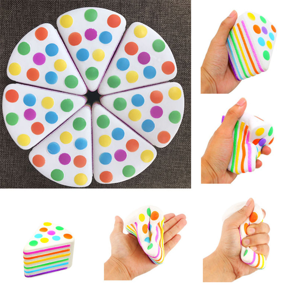 Cute Gift Jumbo Rainbow Cake Squeeze Healing Fun Kid Toy Gift Stress Reliever Decor 28S7109 drop shipping
