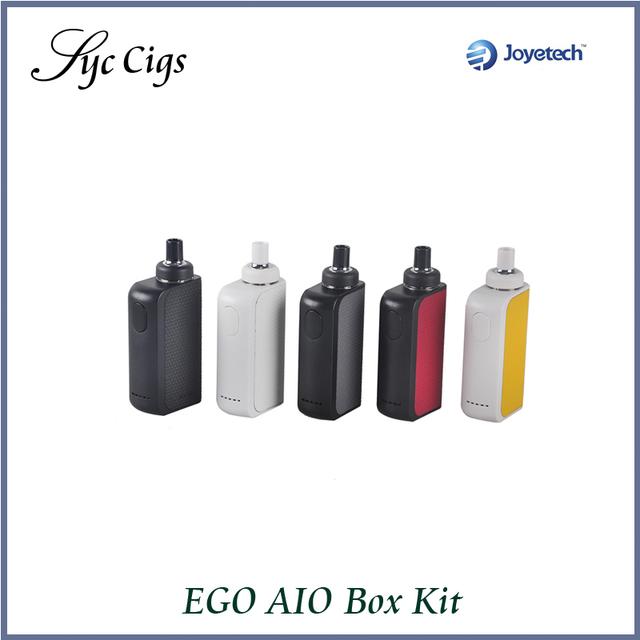 Original joyetech ego caja aio kit 2100 mah batería incorporada y capacidad de 2 ml atomizador bf ss316 bobina joyetech aio kit mod