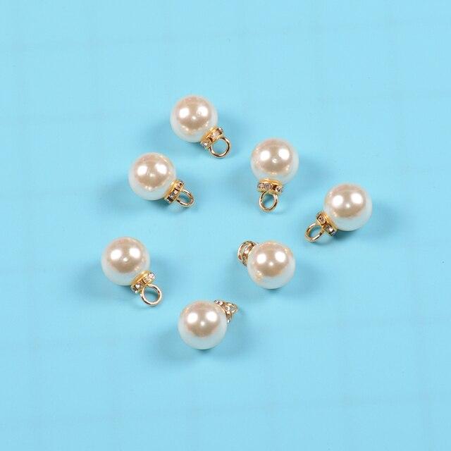 14 мм 20 штук шитье pearl Каплевидная форма Круглый бисер стразы
