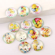 reidgaller Mixed Easter Duck Photo Round Dome Glass Cabochon 10mm 12mm 14mm 18mm 20mm 25mm diy flatback jewelry findings