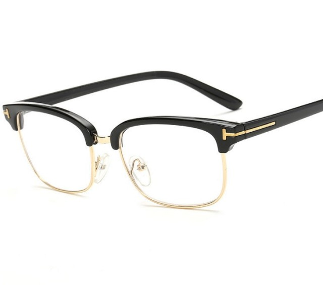 dfa9cfd892 R12 Brand Top Grade Eyeglasses Frame Men Optical Frames Women Retro Clear  Lens Half rim Glasses Frame Female Spectacle