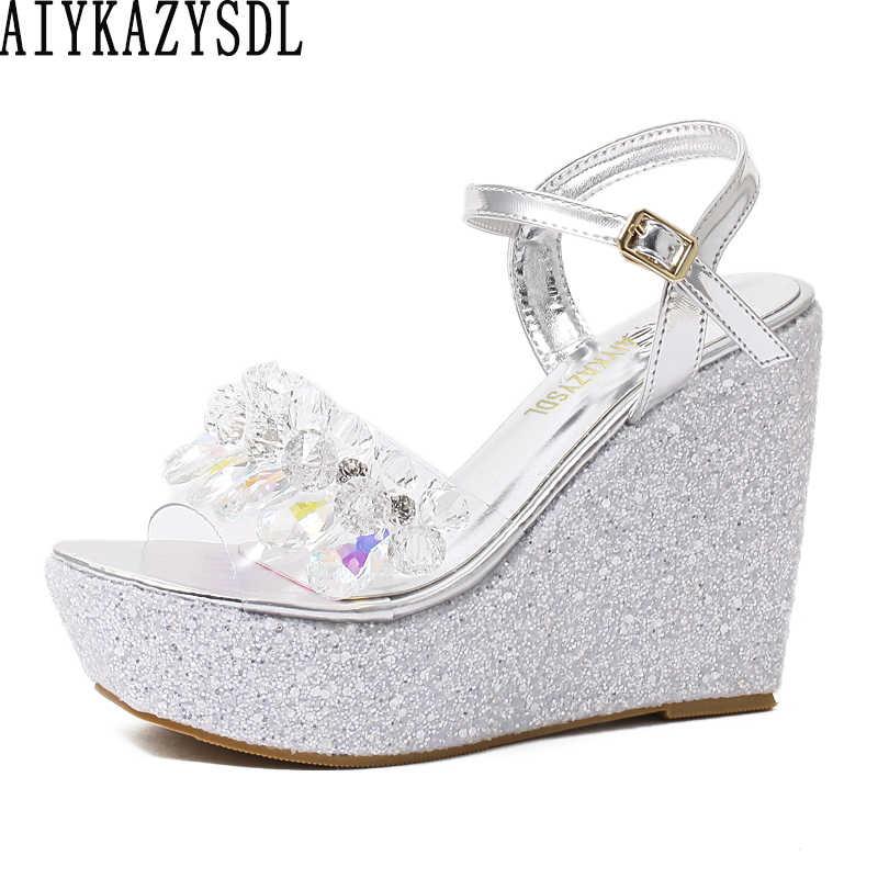 AIYKAZYSDL Women Elegant Sandals
