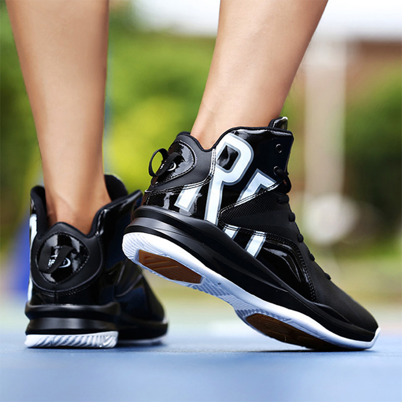 2018 Men High Top Basketball Shoes Sneakers  Basketball Sports Shoes Men Leather Sport Gym Boots Athletic Shoes peak sport lightning ii men authent basketball shoes competitions athletic boots foothold cushion 3 tech sneakers eur 40 50