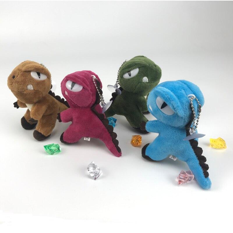 Kawaii Mundo Jurássico Tiranossauro Dinossauro Animal Bonito Colorido Bolsa Pingente de Brinquedo De Pelúcia Macia Bonecas Brinquedos Para As Crianças Presentes