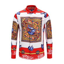 XIMIWUA 2019 New Arrival Men Luxury Shirt Fashion Mens Floral Camisa Masculina High Quality
